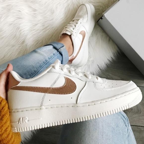 Nike Air Force Low White Bronze | Poshmark